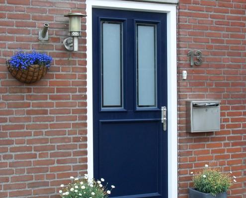 Kunststof deuren Blauw/wit