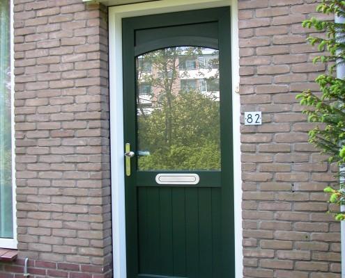 Kunststof deuren Groen/wit